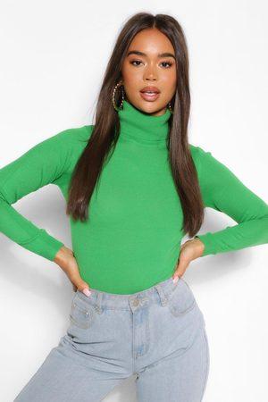 Boohoo Women Turtlenecks - Womens Basic Roll Neck Sweater - - S