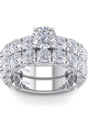 SuperJeweler 6 Carat Round Shape Diamond Bridal Ring Set in (