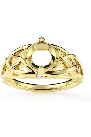 SuperJeweler SEMI MOUNT for 1 Carat Celtic Love Knot Diamond Engagement Ring in 14K (4.30 g) (
