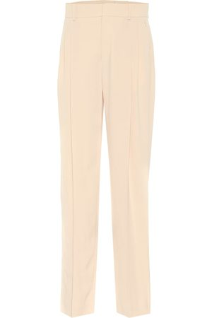 Chloé High-rise straight crêpe pants