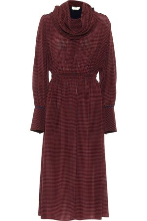 Fendi Checked silk maxi dress