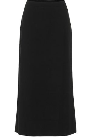 Jardin des Orangers Virgin wool midi skirt