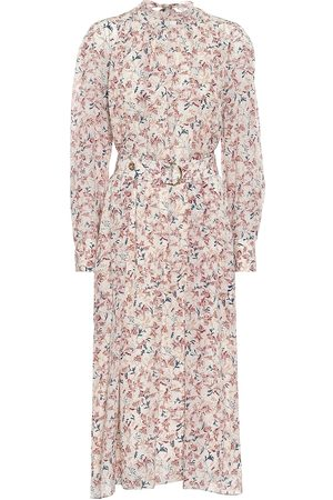 Chloé Floral silk georgette midi dress