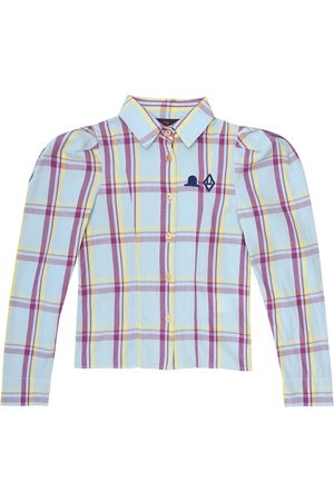 The Animals Observatory Gadfly checked cotton shirt