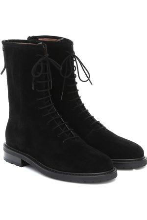 LEGRES Suede combat boots
