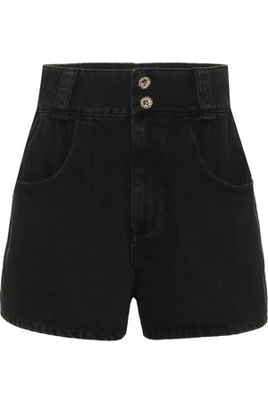 Alessandra Rich Embellished denim shorts