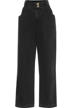 Alessandra Rich High-rise wide-leg jeans