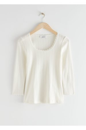 & OTHER STORIES Ribbed Scoop Neck Top