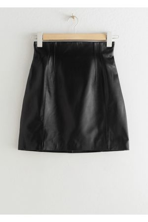 & OTHER STORIES High Waisted Leather Skirt