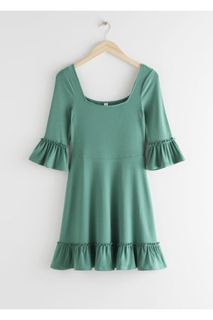& OTHER STORIES Ruffle Trim Mini Dress