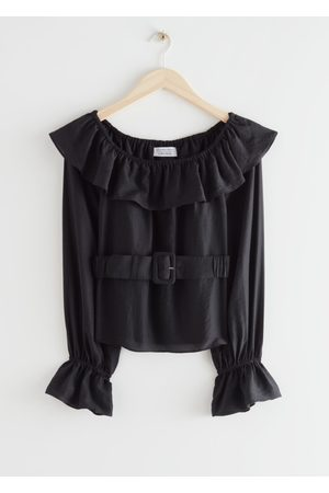 & OTHER STORIES Women Tops - Belted Ruffle Top