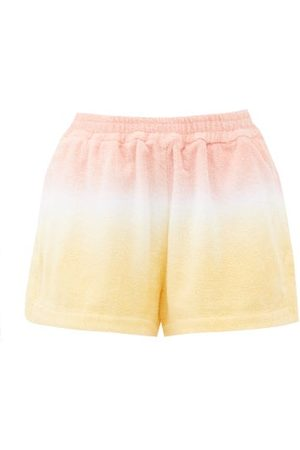 TERRY Estate Tie-dyed High-rise Cotton- Shorts - Womens - Stripe