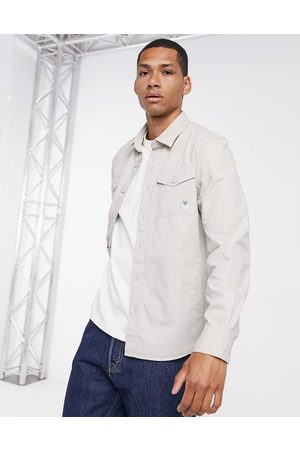 Barbour Beacon Foundry overshirt in stone