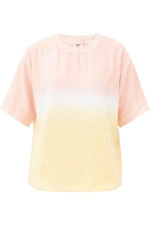 TERRY Women Short Sleeve - Tie-dyed Cotton- T-shirt - Womens - Stripe