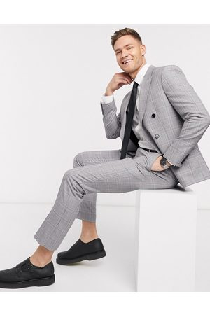 Moss Bros Moss London eco suit pants in and pink check
