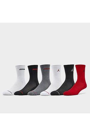 Nike Jordan Kids' Legend 6-Pack Crew Socks in / / Size 9-11 Cotton