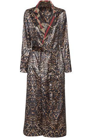F.R.S For Restless Sleepers Reversible Velvet & Silk Dust Coat
