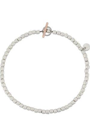 Dodo 9kt rose gold, and steel mini beads Granelli bracelet