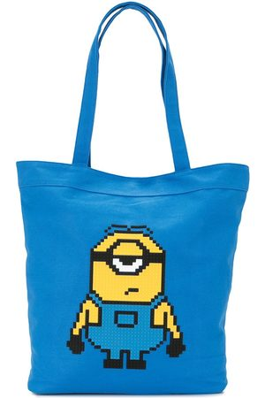 MOSTLY HEARD RARELY SEEN X Minions Staring Together 8-Bit tote bag