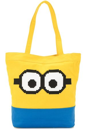 MOSTLY HEARD RARELY SEEN X Minions Staring Goggles 8-Bit tote bag