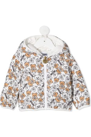 Moschino Teddy bear print puffer jacket