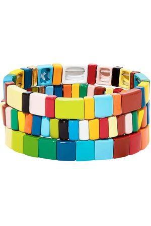 Roxanne Assoulin Rainbow Brite set of three bracelets