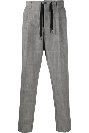 Dolce & Gabbana Check-pattern cropped trousers - Grey