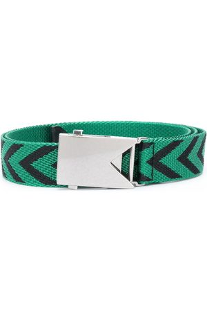 Bottega Veneta Chevron buckle belt
