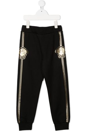 VERSACE TEEN Medusa cotton track pants