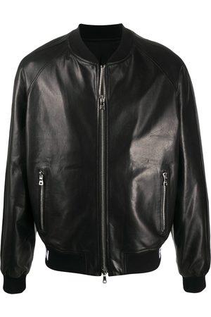 Balmain Logo-trim bomber jacket