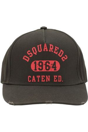 Dsquared2 Dsq2 Print Cotton Canvas Baseball Hat