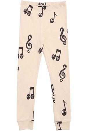 Mini Rodini Music Note Print Organic Cotton Leggings