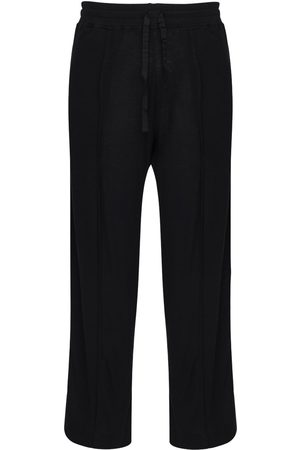 ANN DEMEULEMEESTER 17cm Jersey Viscose Blend Sweatpants