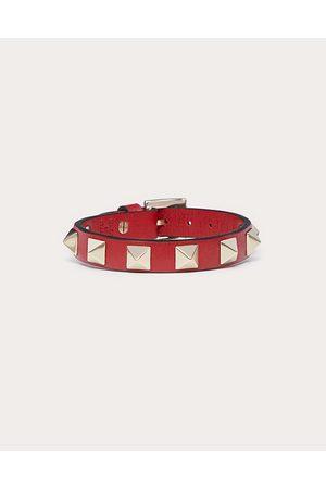 VALENTINO GARAVANI Rockstud Bracelet Women Rouge Pur Calfskin 100% OneSize