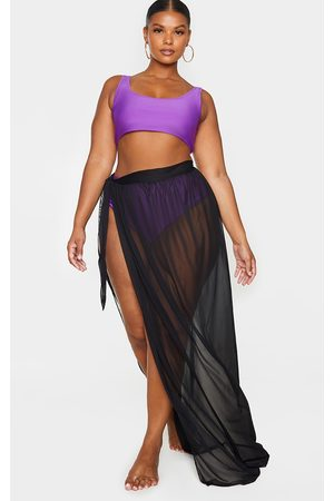 PRETTYLITTLETHING Plus Tie Side Maxi Beach Sarong