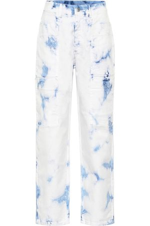 Stella McCartney High-rise tie-dye jeans