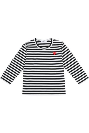 Comme de Garçons Play Kids Striped cotton jersey T-shirt