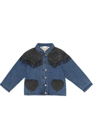 Stella McCartney Fringed appliqué denim jacket