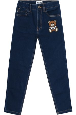 Moschino Teddy stretch-cotton skinny jeans