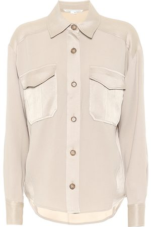 VERONICA BEARD Ainsley satin-trimmed shirt