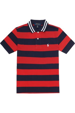 Ralph Lauren Striped cotton piqué polo shirt