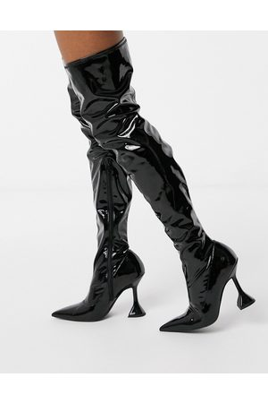 ASOS Women Thigh High Boots - Karma patent over the knee boot