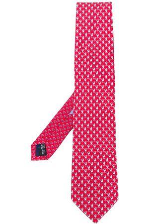 Salvatore Ferragamo Men Bow Ties - Weather vane silk tie