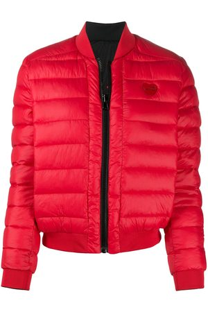 Love Moschino Women Puffer Jackets - Logo patch padded jacket