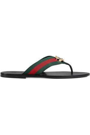 Gucci Men Sandals - Striped logo-embellished sandals