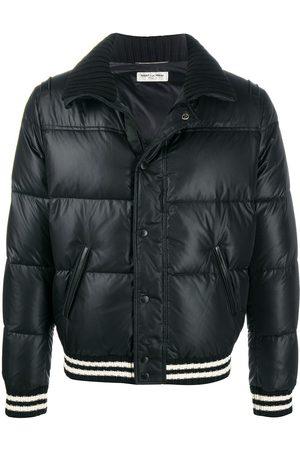 Saint Laurent Stripe-trim puffer jacket