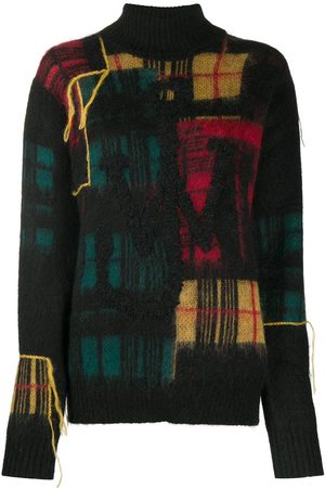 J.W.Anderson Fringe checked knitted jumper