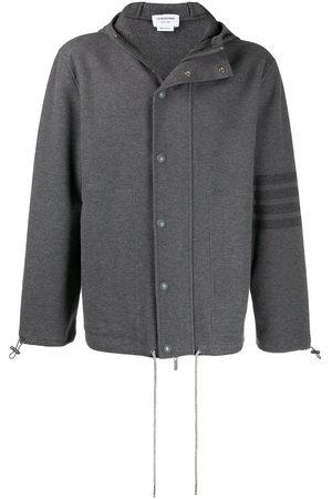 Thom Browne 4-Bar hooded sport coat - Grey