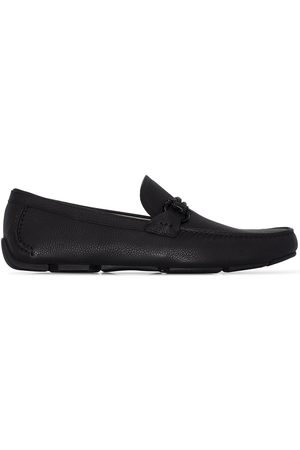 Salvatore Ferragamo Front 4 leather loafers