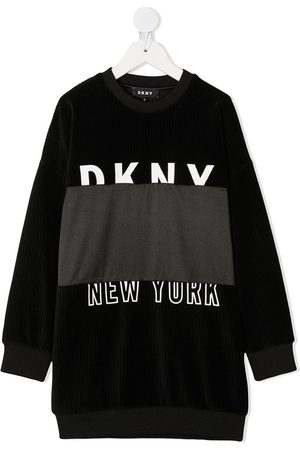 DKNY Logo-print sweater dress
